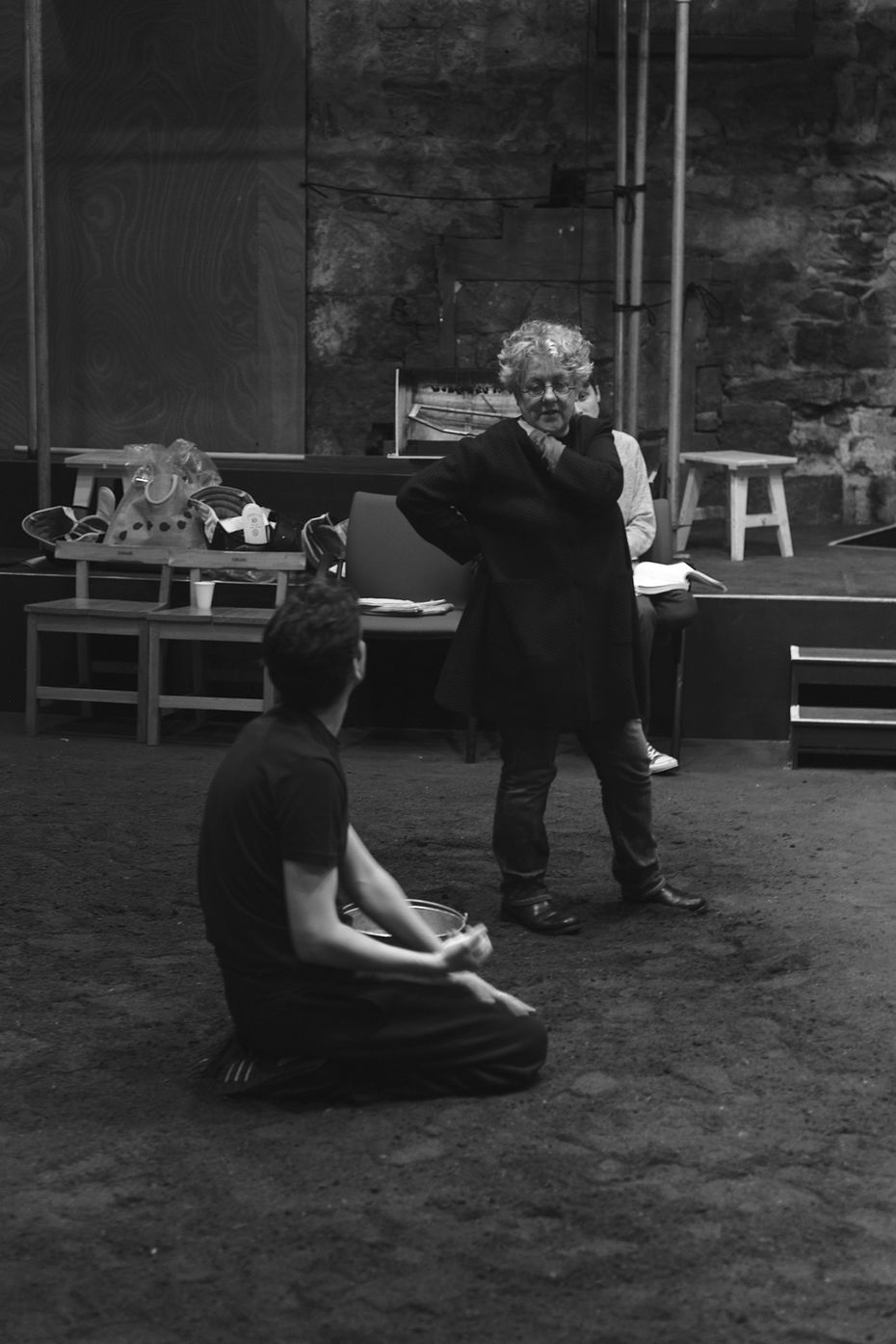 Garry in rehearsal for DruidShakespeare