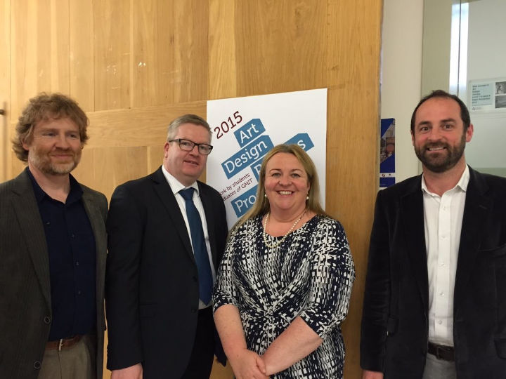 Paddy, GMIT President Dr Fergal Barry and fellow GMIT colleague Dermot ODonovan was at the GMIT Design Week launch, November 2015.
