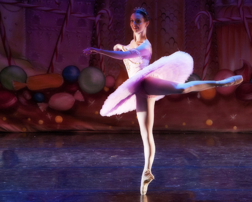 Judith as The Sugar Plum Fairy, in The Nutcracker