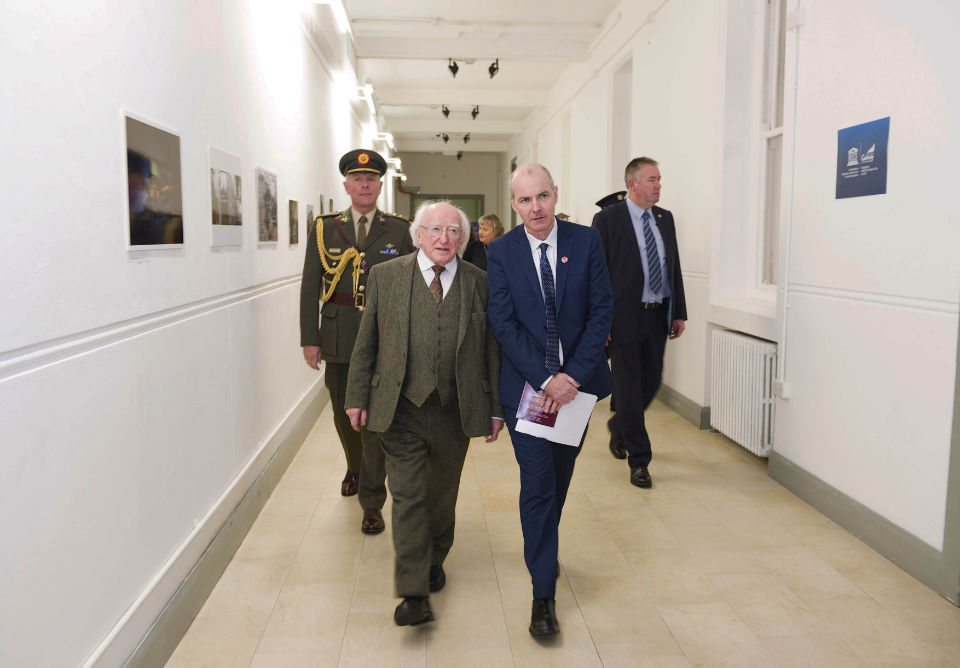 With President Michael D. Higgins,